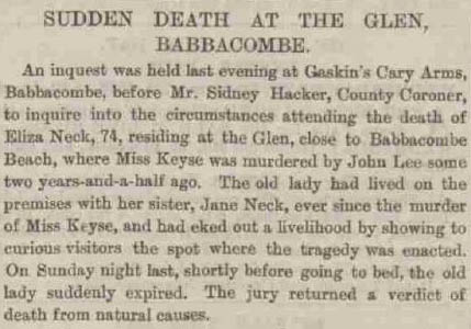 Eliza Neck - Western Times - Wednesday 08 December 1886
